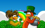 St Patrick's Day postcard icon