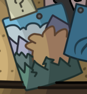 Puffle Mountain as seen in Lodge Attic