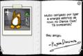 Card from Dancing Penguin full award inside pt