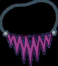 Collar Violeta con Puntas icono