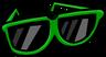Giant Green Sunglasses