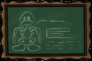 School chalkboard hallo fri