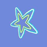 Estrella de Neón Icono