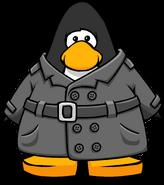 Noir Detective Coat on a Player Card