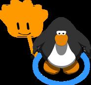 Orange Puffle Balloon in-game