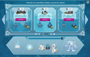 Frozen Party interface