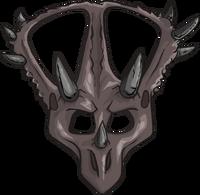 Máscara de Triceratops icono