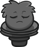Perched Puffle Statue Furniture Item