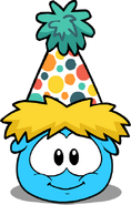 Polka Puffle Hat in Puffle Interface