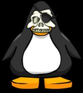 Skull Mask on Player Card