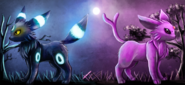 Umbreon and espeon by abusorugia-d4qok16