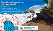 Igloo Upgrades Membership Error