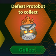 Protobot Helmet Before Defeated