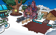 Yellow Puffle Pin location