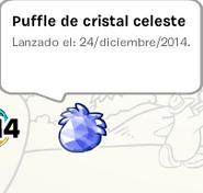 Album de Estampilla Puffle Cristal celeste Pin