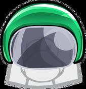 Green Bobsled Helmet