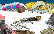Bosque en la fiesta submarina