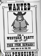 Fiesta del Lejano Oeste - Anuncio de la fiesta