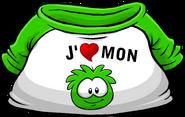 I Heart My Green Puffle T-Shirt icon fr