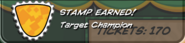Target Champion Stamp Earned