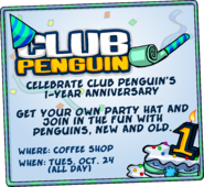 1st Anniversary Party advertisement