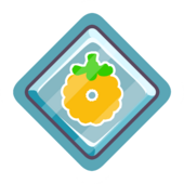 Gold O'berry Pin icon