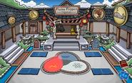 Ninja Hideout fire glow