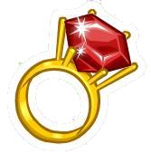 Ruby Ring Pin