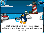 Sailboats carried away