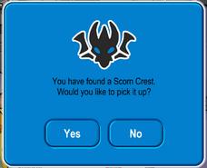 Scorn crest message