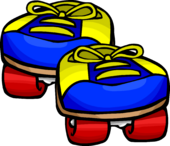 Blue Rollerskates clothing icon ID 377