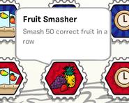Fruit smasher stamp book