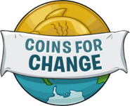 Logo Coins for Change 2012 sin pingüinos