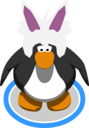 Rabbit Puffle Cap in-game