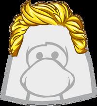 Cabello Rubio con Gel icono