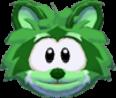 Green raccoon 3d icon