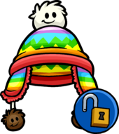 Rainbow Puffle Toque clothing icon ID 11349