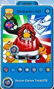 Tarjeta de Jugador de Rhubarbcrmbl (durante la Copa Club Penguin)