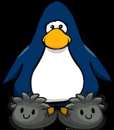 Pantuflas de Puffle Negro tarjeta