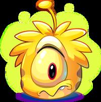 Puffle alien amarillo