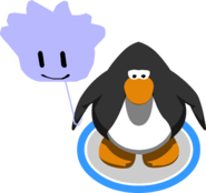 Purple Puffle Balloon in-game
