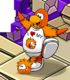 Zany Orange Puffle card image