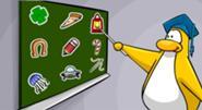 El Pin de Pizza en el pizarrón