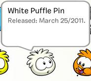 White puffle pin 2