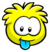 Yellow Puffle Pin icon