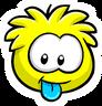 Yellow Puffle Pin icon