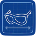 Blueprint Thick-Frame Glasses icon
