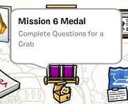 Mission 6 medal stamp book