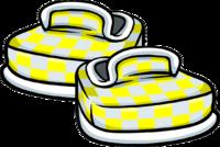 Zapatos a Cuadros Amarillos icono