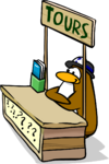 How to be a Great Tour Guide Booth Penguin